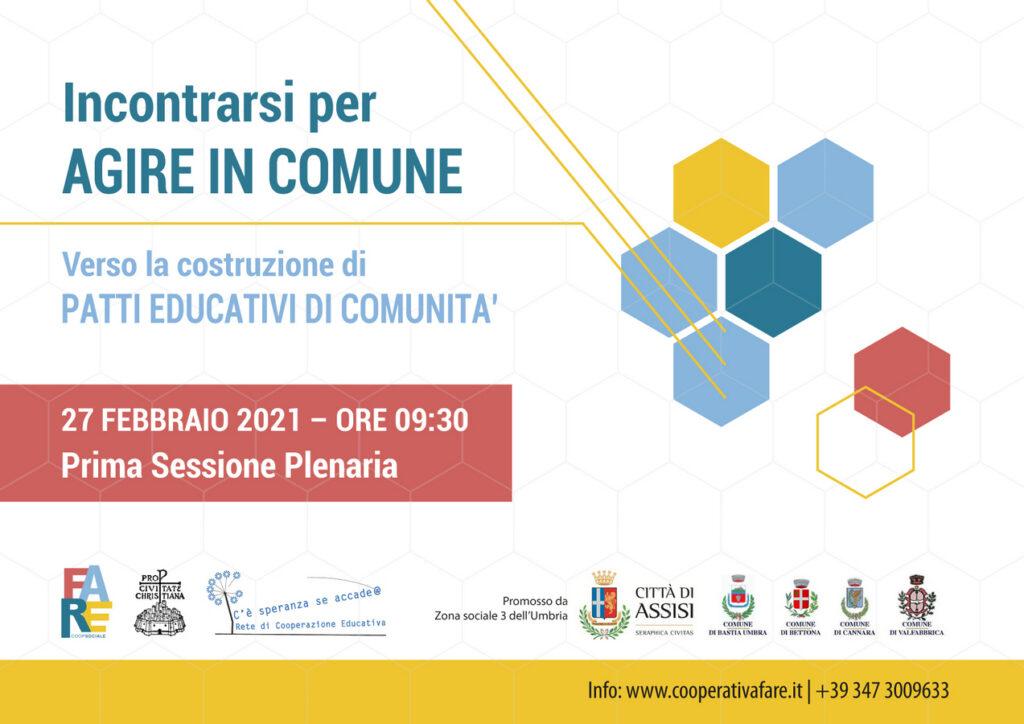 Patti educativi di comunità - Zona Sociale 3 dell'Umbria